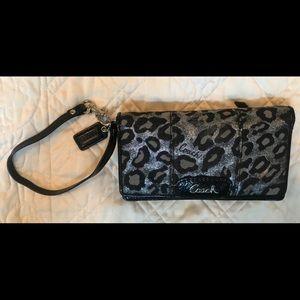 Coach Wristlet/Wallet Cheetah Print